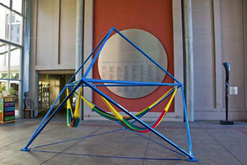 The Cube on display in the Museum of Art and History, Santa Cruz, CA