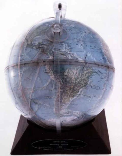 The UniGlobe, a celestial globe with a terrestial globe inside