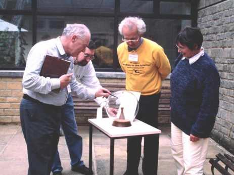 British Sundial Society viewing the dial