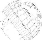 Eastern Horizon view of Santa Cruz, California sundial