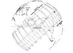 Western Horizon view of Tittmoning, Germany sundial