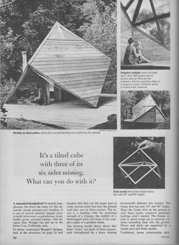 Page 1 Sunset Magazine Article on the Cube